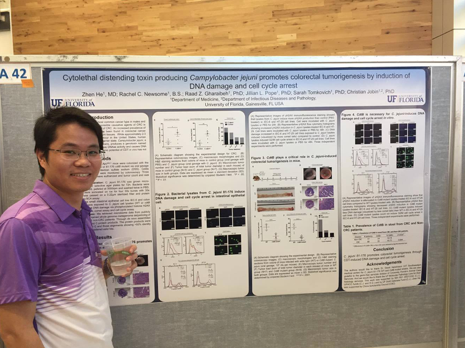 Zhen He shows us his poster on CDT-producing C. jejuni